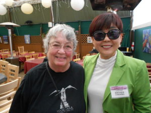 Emily Winters (left) with Esther Chaing: artist, Venice Arts Council